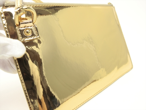 Louis vuitton authentic monogram miroir gold pochette for Pochette miroir